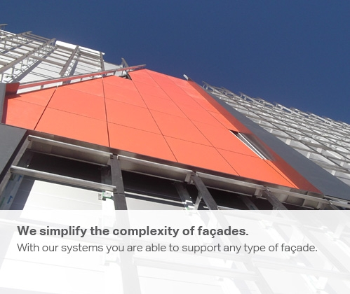 We simplify the complexity of façades. Supporting any rainscreen cladding.